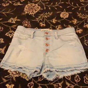 Abercrombie and fitch girls denim shorts
